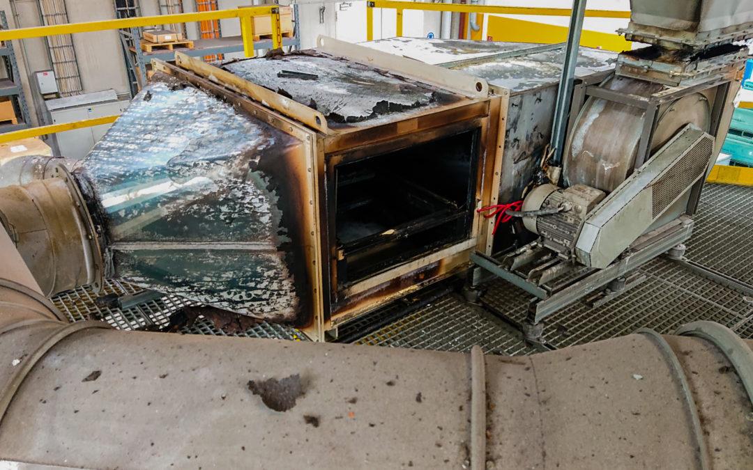 Brand an Aluminium-Schmelzofen – Löscheinsatz verhindert Schlimmeres